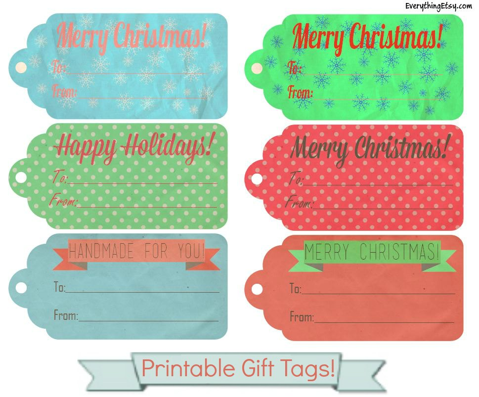pdf download here these gift tags - Printable Christmas Name Tags