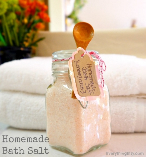 Homemade Bath Salt Tutorial - EverythingEtsy