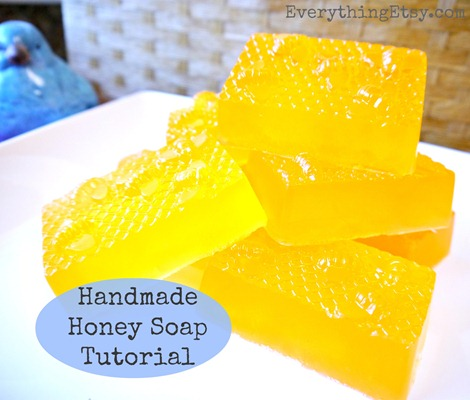 Handmade Honey Soap Tutorial on EverythingEtsy.com