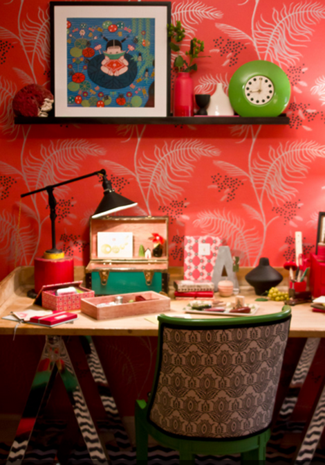 colorful craft room love