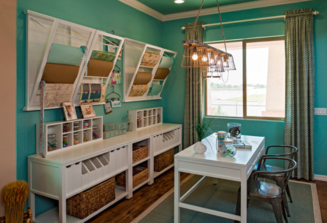 craft room love in blue