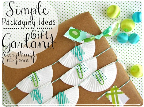 simple packaging ideas! ~ gift garland  ~  Everything Etsy.com (1)
