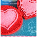 Felt Heart Pattern {Free Download}