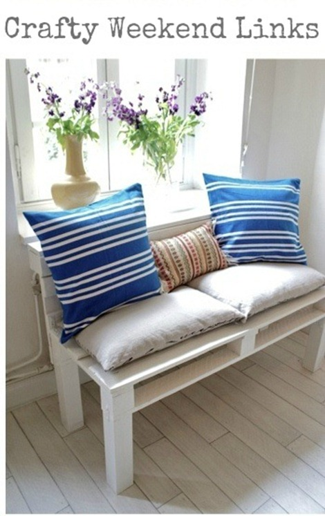 Pallet Bench - Crafty Weekend Links on EverythingEtsy.com