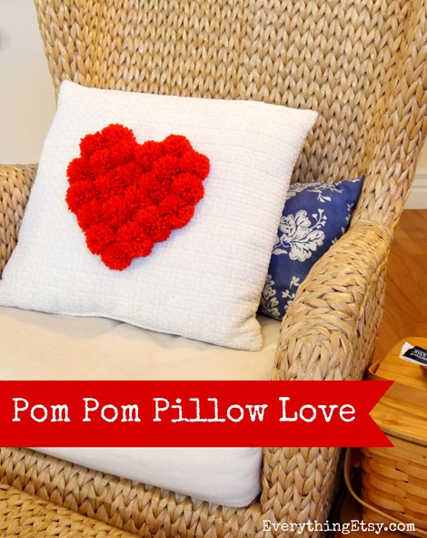Pom Pom Pillow Love {DIY}