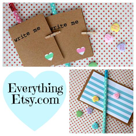 Valentines Day Mini Notebooks ♥ EverythingEtsy.com