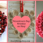 Valentine's Day Wreaths on Etsy