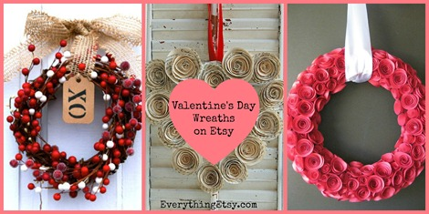 valentine wreaths for your front doorValentines Day Wreaths on Etsy