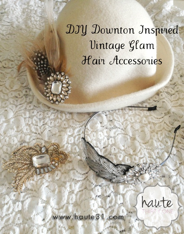 Downton inspired vintage hair accessories haute31