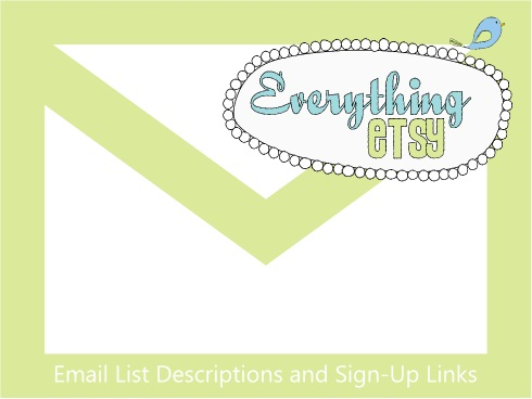 email sign up EverythingEtsy