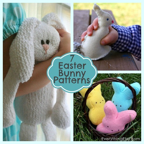 7 Easter Bunny Patterns on EverythingEtsy.com