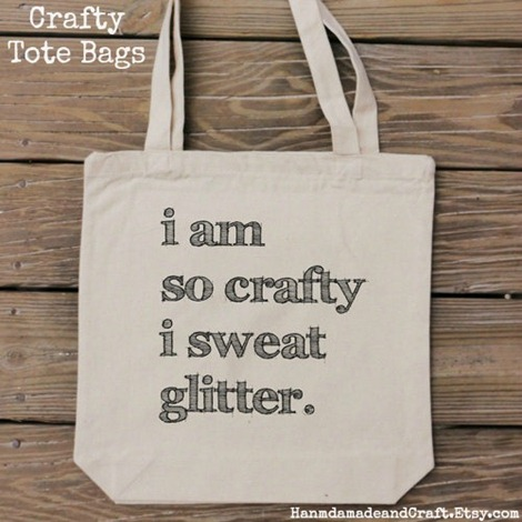 Crafty Tote Bag Giveaway from Handmade and Craft on Etsy