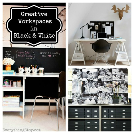 Creative Workspaces in Black & White