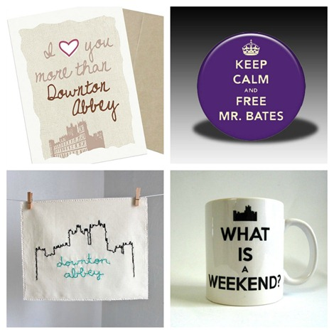 Downton Abbey Collection on Etsy