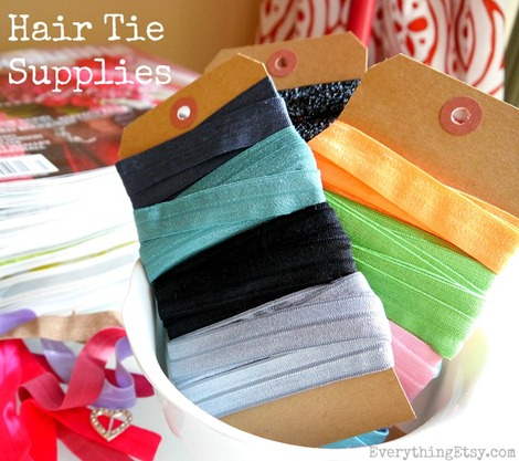 Hair Tie Supplies {Tutorial}