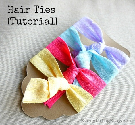 Hair Ties Tutorial