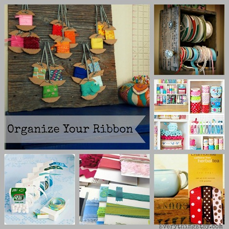Organize Your Ribbon {18 Inspiring Ideas} on EverythingEtsy.com