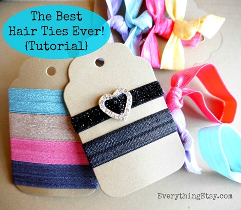 The Best Hair Ties Ever {Tutorial} on EverythingEtsy.com