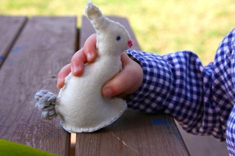 mini felt bunny pattern