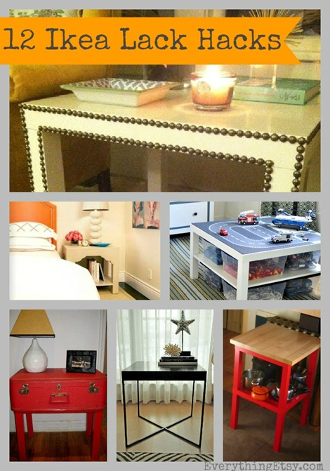 12 Ikea Lack Table Hacks - DIY Decor Projects on EverythingEtsy.com