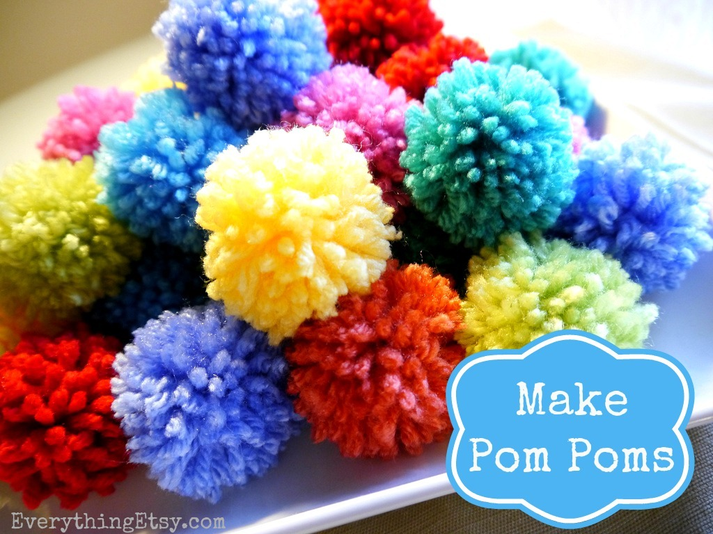 how to make a pom pom diy fun. Black Bedroom Furniture Sets. Home Design Ideas
