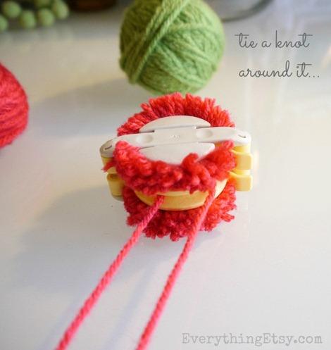 Tie a knot - Pom Pom making