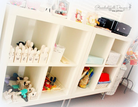 craft room - shelving - kim jeffress