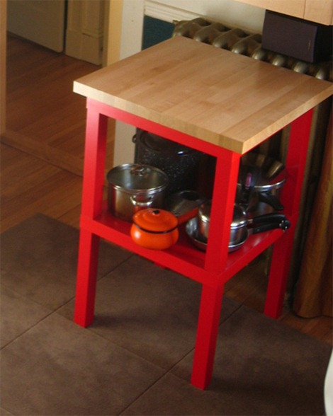ikea hack - lack to kitchen table