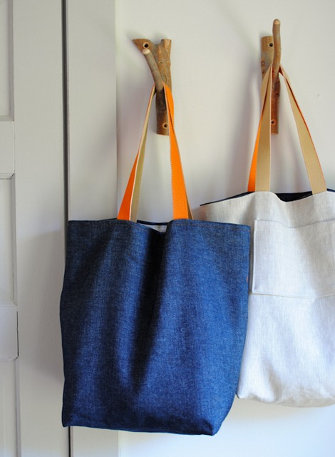 simple sewing tutorials - tote bag