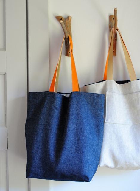 simple sewing tutorials - tote bag