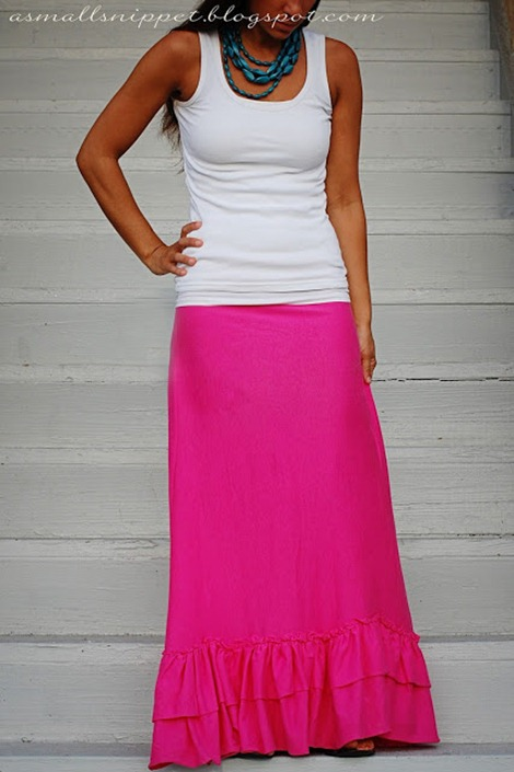 simple sewing tuturial for spring - maxi skirt