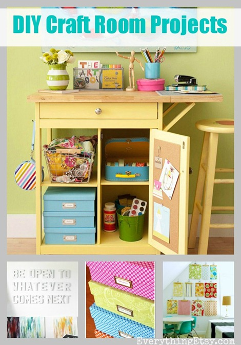 7 simple diy projects for your craft room for Diy organization crafts