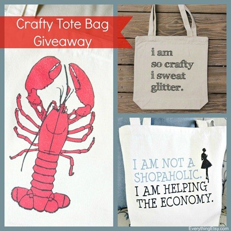 Crafty Tote Bag Giveaway from Handmade and Craft - @EverythingEtsy