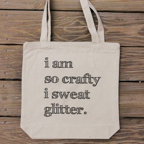 Crafty totes by Handmade and Craft on Etsy