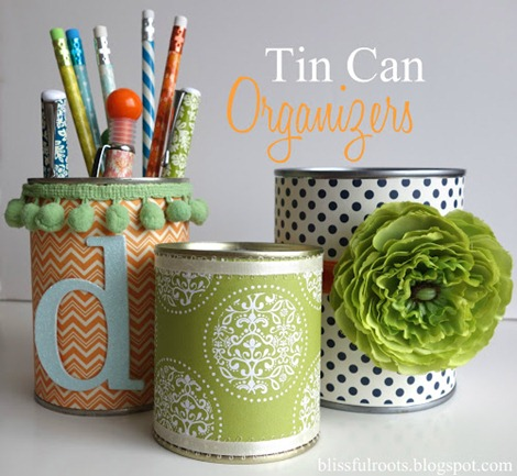 7 simple diy projects for your craft room for Tin can diy