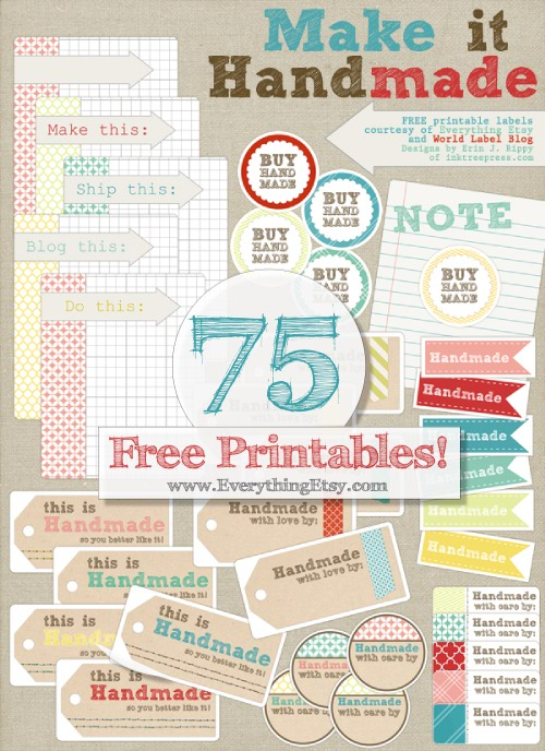 Free_Printable_Label_Handmade