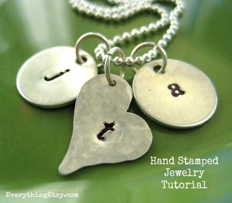 Hand Stamped Jewelry Tutorial - Everything Etsy