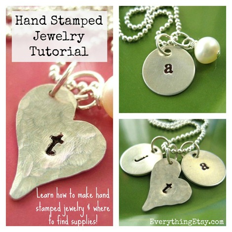 Hand Stamped Jewelry Tutorial on EverythingEtsy.com