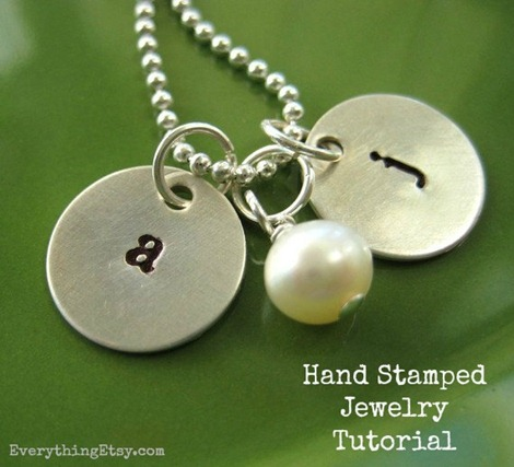 Hand Stamped Necklace Tutorial on EverythingEtsy