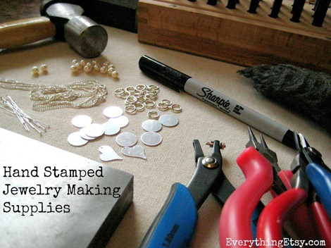 Hand stamped Jewelry Supplies on Everything Etsy
