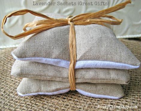 Linen Lavender Sachets {DIY Gifts}