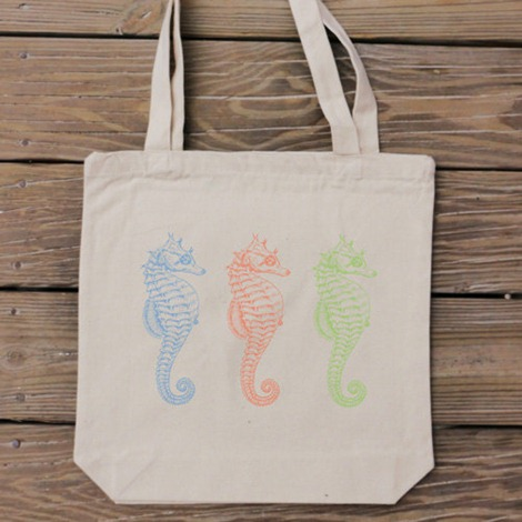 Seahorses - Tote by Handmade and Craft on Etsy