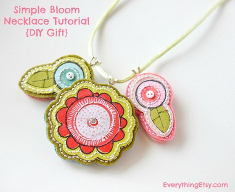 Simple Bloom Necklace Tutorial {2} - On EverythingEtsy.com