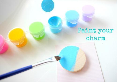 Teacher's Necklace - Paint your charm