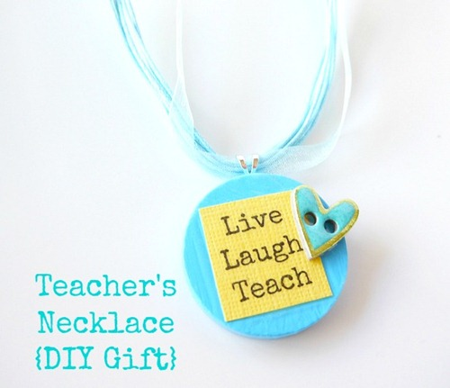 Teacher's Necklace - finished gift