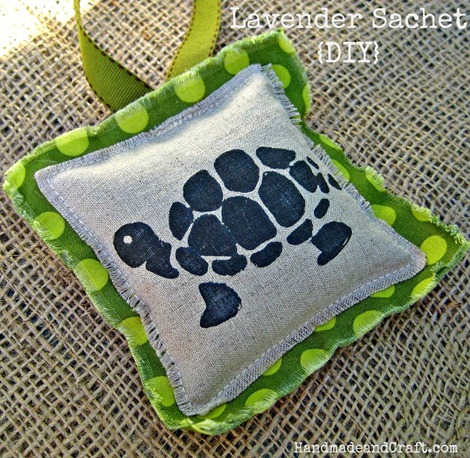 Turtle Lavender Sachet {DIY}