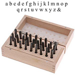 Metal Stamping Letter Kit - Typewriter Font Lowercase