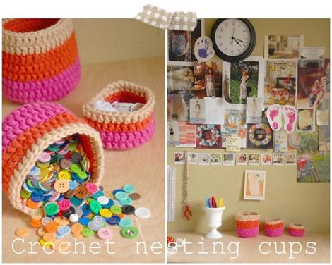 crochet pattern nesting pots