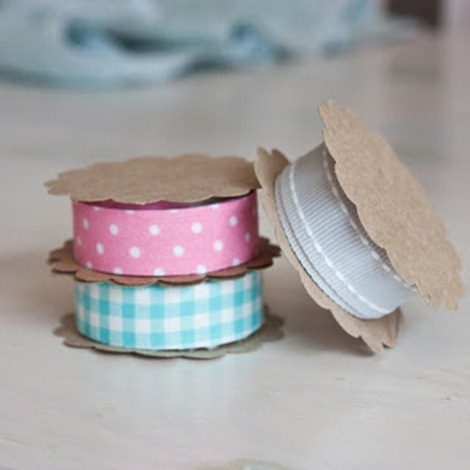 diy ribbon spool