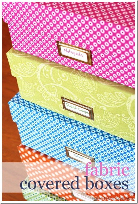 fabric covered baskets